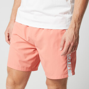 BOSS Men's Dolphin Swim Shorts - Light/Pastel Red