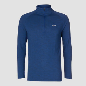 MP Performance 1/4 Zip - Noir et Bleu