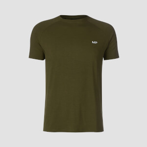 T-shirt Performance Short Sleeve MP - Verde militare/Nero