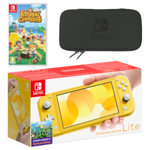 Nintendo Switch Lite (Yellow) Animal Crossing: New Horizons Pack