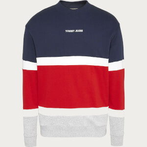 Tommy Jeans Men's Retro Colorblock High Crewneck Sweatshirt - Twilight Navy/Multi