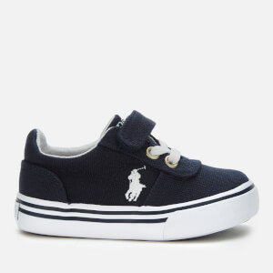 Polo Ralph Lauren Toddlers' Hanford III PS Velcro Canvas Trainers - Navy
