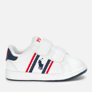 Polo Ralph Lauren Toddlers' Oaklynn EZ Velcro Trainers - White