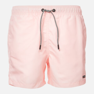 Superdry Men's Edit Swim Shorts - Grey Pink