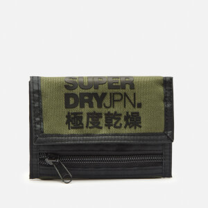 Superdry Men's Trifold Polyester Wallet - Chive