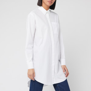 Karl Lagerfeld Women's Embellished Cotton Shirt - White