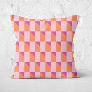 Geometric Square Cushion