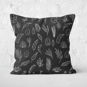Dark Florals Square Cushion