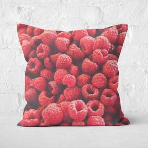 Raspberries Square Cushion