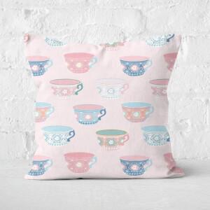 Tea Cup Square Cushion