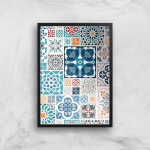 Moroccon Tiles Giclée Art Print