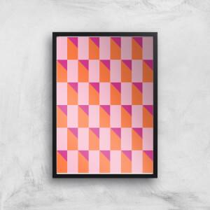 Colourful Geometric Giclée Art Print