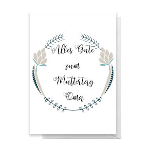 Alles Gute Zum Muttertag Oma Greetings Card