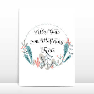 Alles Gute Zum Muttertag Tante Greetings Card