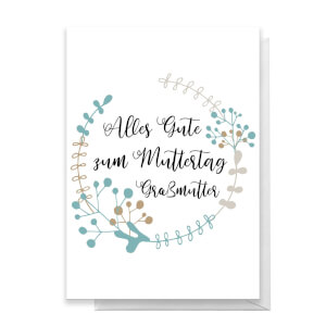 Alles Gute Zum Muttertag Gra?mutter Greetings Card