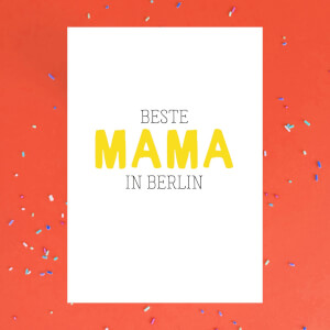 Beste Mama In Berlin Greetings Card