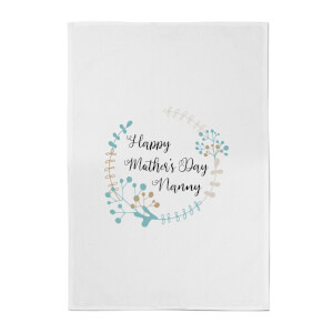 Happy Mother's Day Nanny Cotton Tea Towel