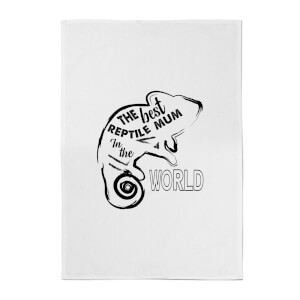 The Best Reptile Mum In The World Cotton Tea Towel