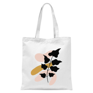 Abstract Branch Tote Bag - White