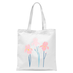 Trio Flower Tote Bag - White
