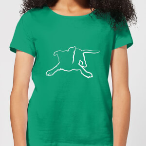 Playful Dog Women's T-Shirt - Kelly Green