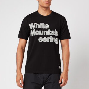 White Mountaineering Men's Printed Stitched Logo T-Shirt - Black