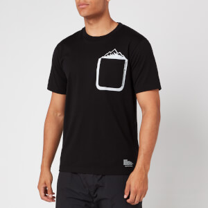 White Mountaineering Men's Mountain Printed Pocket T Shirt - Black