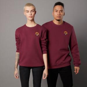 Borderlands 3 Claptrap Unisex EmbroideRot Sweatshirt - Burgunderrot