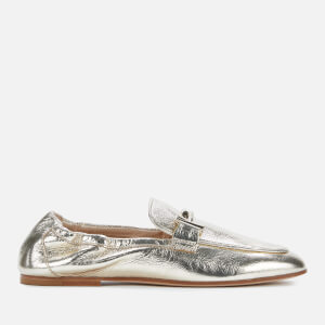 Tod's Women's Leather Loafers - Gold