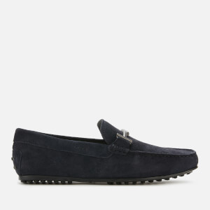 Tod's Men's Doppia T City Gommino Suede Driving Shoes - Night
