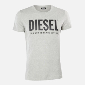 Diesel Men's Diego Logo T-Shirt - Light Grey Melange