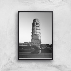 Leaning Tower Of Pisa Giclee Art Print