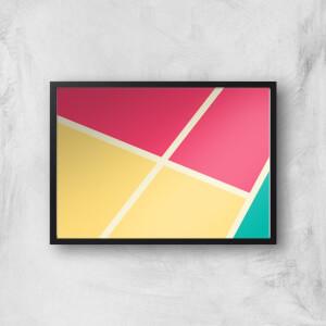 Coloured Tiles Giclee Art Print