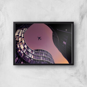 City Fly Over Giclee Art Print