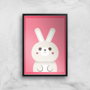 Fluffy White Rabbit Giclee Art Print