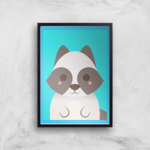 Sweet Little Raccoon Giclee Art Print