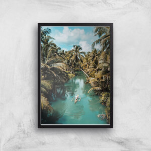 Tropical Canoe Ride Giclee Art Print