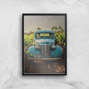Vintage Car Giclee Art Print