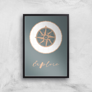 Compass Explore Giclee Art Print