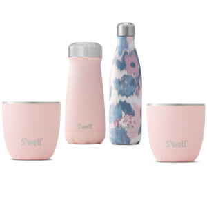 S'well Peaches & Cream Bottle and Tumbler Set (Worth £120)