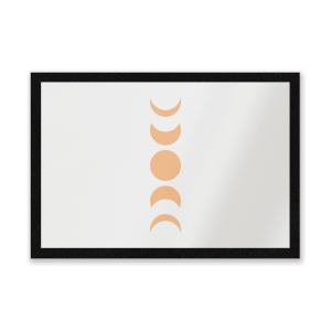 Abstract Moon Phase Entrance Mat