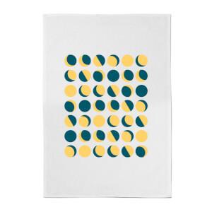 Moon Phase Pattern Cotton Tea Towel