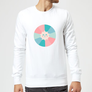 Colours Of The Day Sweatshirt - White