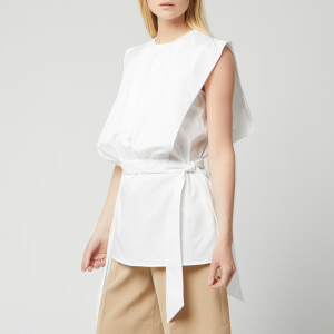 Victoria, Victoria Beckham Women's Gathered Bib Top - White