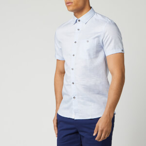 Ted Baker Men's Have Fun Linen Shirt - Blue