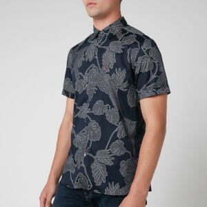 Ted Baker Men's Downdog Print Shirt - Navy