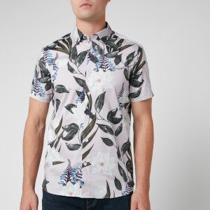 Ted Baker Men's Dudum Flower and Leaf Print Shirt - Lilac