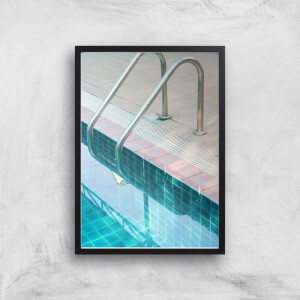 Vintage Swimming Pool Giclee Art Print