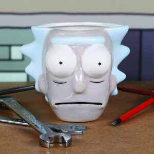 Rick and Morty Rick's Head 3D Sculpted Mug