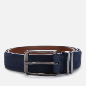 Ted Baker Men's Crumbs Nubuck Leather Belt - Navy